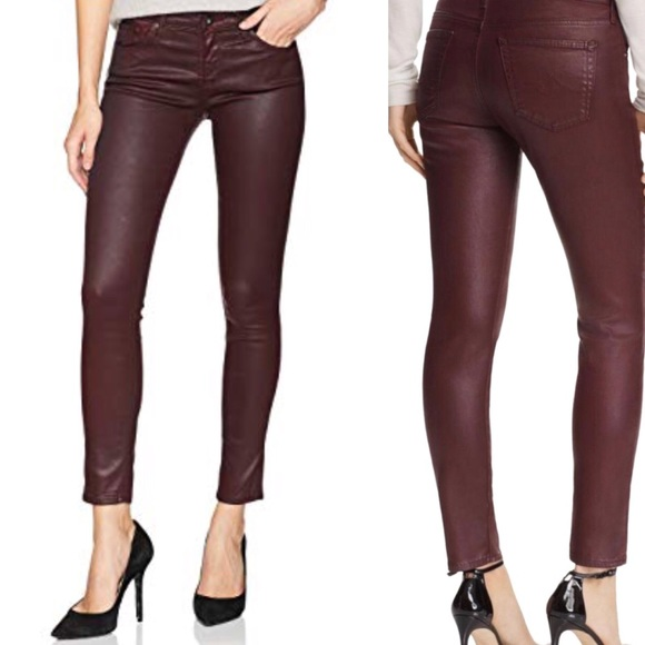 aa10394a813e5a Ag Adriano Goldschmied Denim - AG jeans the leggings ankle oxblood coated  skinny